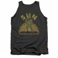 Elvis Presley Shirt Tank Top Logo Music Charcoal Tanktop