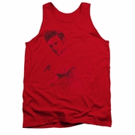 Elvis Presley Shirt Tank Top On The Range Red Tanktop