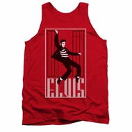 Elvis Presley Shirt Tank Top One Jailhouse Red Tanktop