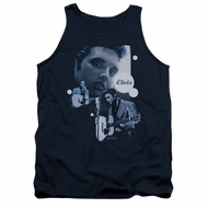 Elvis Presley Shirt Tank Top Play That Guitar Navy Tanktop