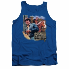 Elvis Presley Shirt Tank Top Ranch Royal Blue Tanktop