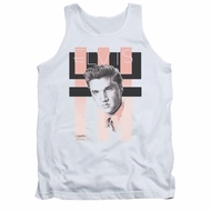 Elvis Presley Shirt Tank Top Retro White Tanktop