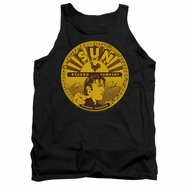 Elvis Presley Shirt Tank Top Sun Records Full Logo Black Tanktop