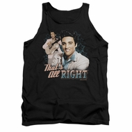 Elvis Presley Shirt Tank Top That's All Right Black Tanktop