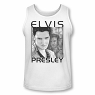 Elvis Presley Shirt Tank Top Up Front White Tanktop