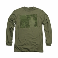 Elvis Presley Shirt That 70's Long Sleeve Military Green Tee T-Shirt