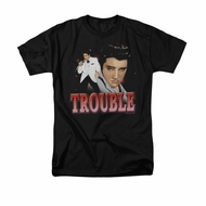 Elvis Presley Shirt Trouble In A White Suit Black T-Shirt