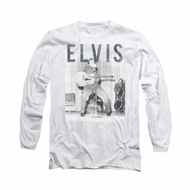Elvis Presley Shirt With The Band Long Sleeve White Tee T-Shirt