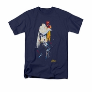 Elvis Presley Shirt Yellow Scarf Navy T-Shirt