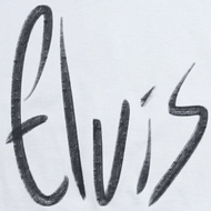 Elvis Presley Sketchy Name Shirts