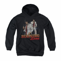Elvis Presley Youth Hoodie Burning Love Black Kids Hoody