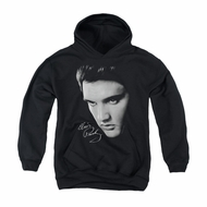 Elvis Presley Youth Hoodie Face Black Kids Hoody