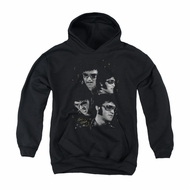 Elvis Presley Youth Hoodie Faces Black Kids Hoody