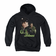 Elvis Presley Youth Hoodie G.I. Uniform Black Kids Hoody