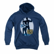 Elvis Presley Youth Hoodie Hands Up Navy Kids Hoody