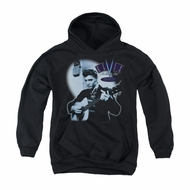 Elvis Presley Youth Hoodie Hillbilly Cat Black Kids Hoody