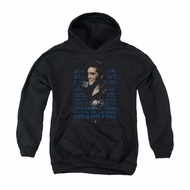 Elvis Presley Youth Hoodie Icon Black Kids Hoody