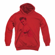 Elvis Presley Youth Hoodie On The Range Red Kids Hoody
