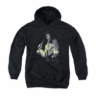 Elvis Presley Youth Hoodie Painted King Black Kids Hoody