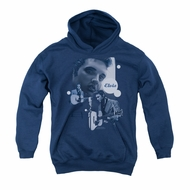 Elvis Presley Youth Hoodie Play That Guitar Navy Kids Hoody