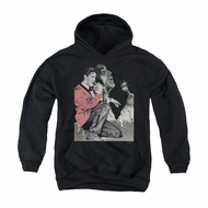 Elvis Presley Youth Hoodie Rock N Roll Smoke Black Kids Hoody