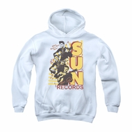Elvis Presley Youth Hoodie Sun Records Soundtrack White Kids Hoody