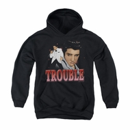Elvis Presley Youth Hoodie Trouble In A White Suit Black Kids Hoody