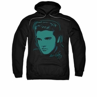 Elvis Presley Youth Hoodie Young Dots Black Kids Hoody