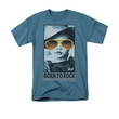 Elvis T-shirt Born To Rock 75 Years Celebration Slate Blue Tee