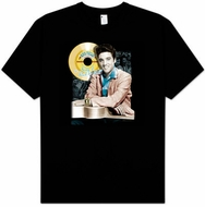 Elvis T-shirt - Classic Rock King Gold Record Classic Rock 50s - Black