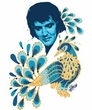 Elvis T-shirt - Peacock Classic Unique - White