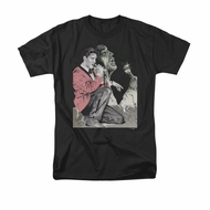 Elvis T-shirt - Rock N Roll Smoke - Black