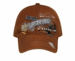 Embroidered Hat New York and Lackpard Patches Dark Caramel Cap