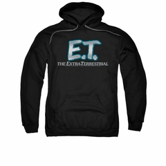 ET Shirts - Extra Terrestrial Hoodie Sweatshirt Logo Black Adult Hoody Sweat Shirt