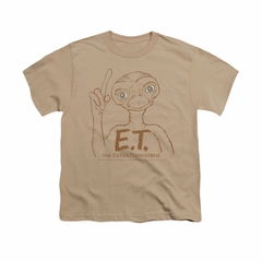 ET Shirts - Extra Terrestrial Shirt Kids Pointing Sand Youth Tee T-Shirt