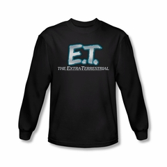 ET Shirts - Extra Terrestrial Shirt Logo Long Sleeve Black Tee T-Shirt