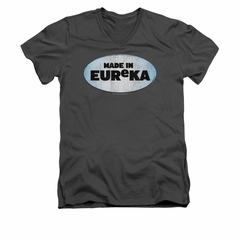 Eureka Shirt Slim Fit V-Neck Made In Eureka Charcoal T-Shirt