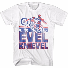 Evel Knievel Shirt American Icon Daredevil White T-Shirt