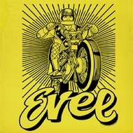 Evel Knievel Shirt Black and Yellow Adult Yellow Tee T-Shirt