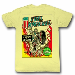 Evel Knievel Shirt Comic Cover Light Yellow T-Shirt