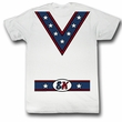 Evel Knievel Shirt Costume Adult White Tee T-Shirt