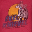 Evel Knievel Shirt Danger Zone Adult Heather Red Tee T-Shirt