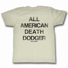 Evel Knievel Shirt Death Dodger Natural T-Shirt