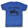 Evel Knievel Shirt Evel Motors Adult Royal Tee T-Shirt