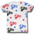 Evel Knievel Shirt Flying Motorcycle Adult White Tee T-Shirt
