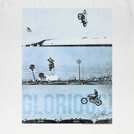Evel Knievel Shirt Glorious Adult White Tee T-Shirt