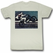 Evel Knievel Shirt Live Adult Dirty White Tee T-Shirt