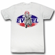 Evel Knievel Shirt New Sensation Adult White Tee T-Shirt