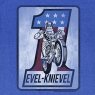 Evel Knievel Shirt One Square Adult Royal Tee T-Shirt
