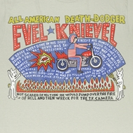 Evel Knievel Shirt So Many Stars Adult Dirty White Tee T-Shirt